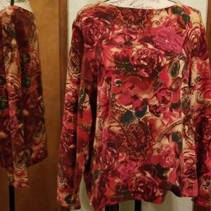 Coldwater Creek women's XL stretchy blouse